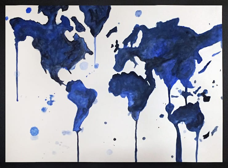 PAINTBYMGB – World Map:  tarz Sanat