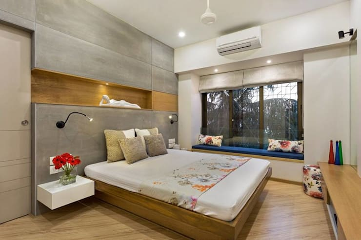 JANKI KUTIR APARTMENT: modern Bedroom by The design house
