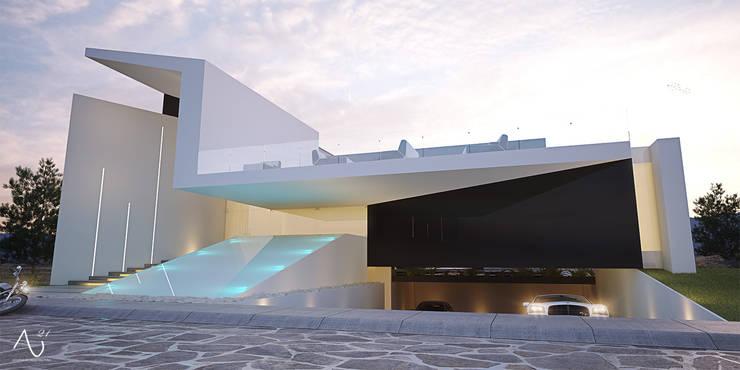 Vista Principal: Casas de estilo minimalista por 21arquitectos