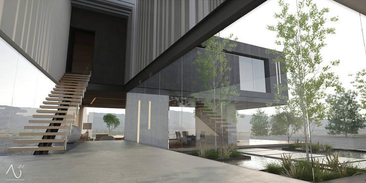 Vestibulo Principal: Pasillos y recibidores de estilo  por 21arquitectos