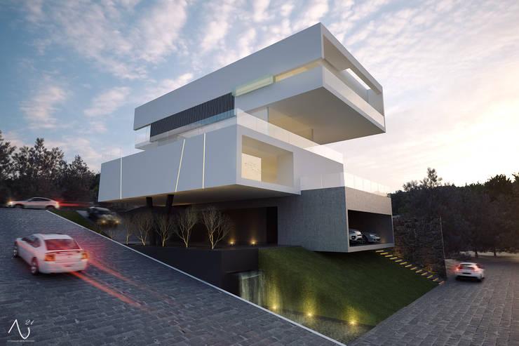 Vista Posterior: Casas de estilo  por 21arquitectos