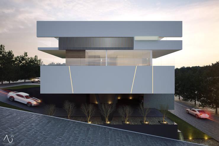 Vista Lateral: Casas de estilo  por 21arquitectos