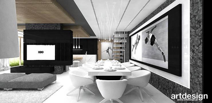 jadalnia: styl , w kategorii Jadalnia zaprojektowany przez ARTDESIGN architektura wnętrz