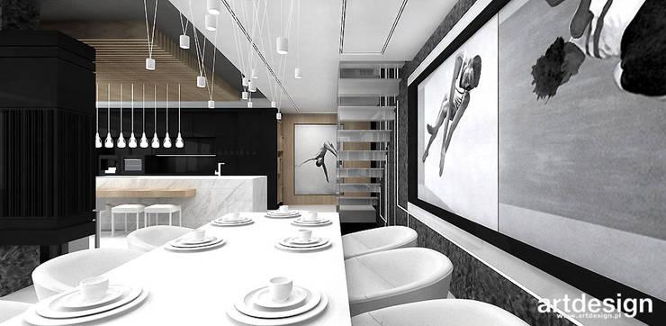 projekt jadalni: styl , w kategorii Jadalnia zaprojektowany przez ARTDESIGN architektura wnętrz