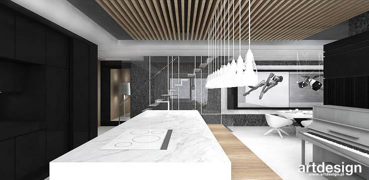 kuchnia z wyspą: styl , w kategorii Kuchnia zaprojektowany przez ARTDESIGN architektura wnętrz