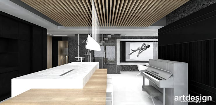 nowoczesne wnętrze domu: styl , w kategorii Kuchnia zaprojektowany przez ARTDESIGN architektura wnętrz