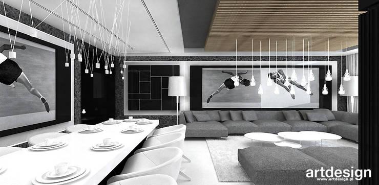Wohnzimmer von ARTDESIGN architektura wnętrz