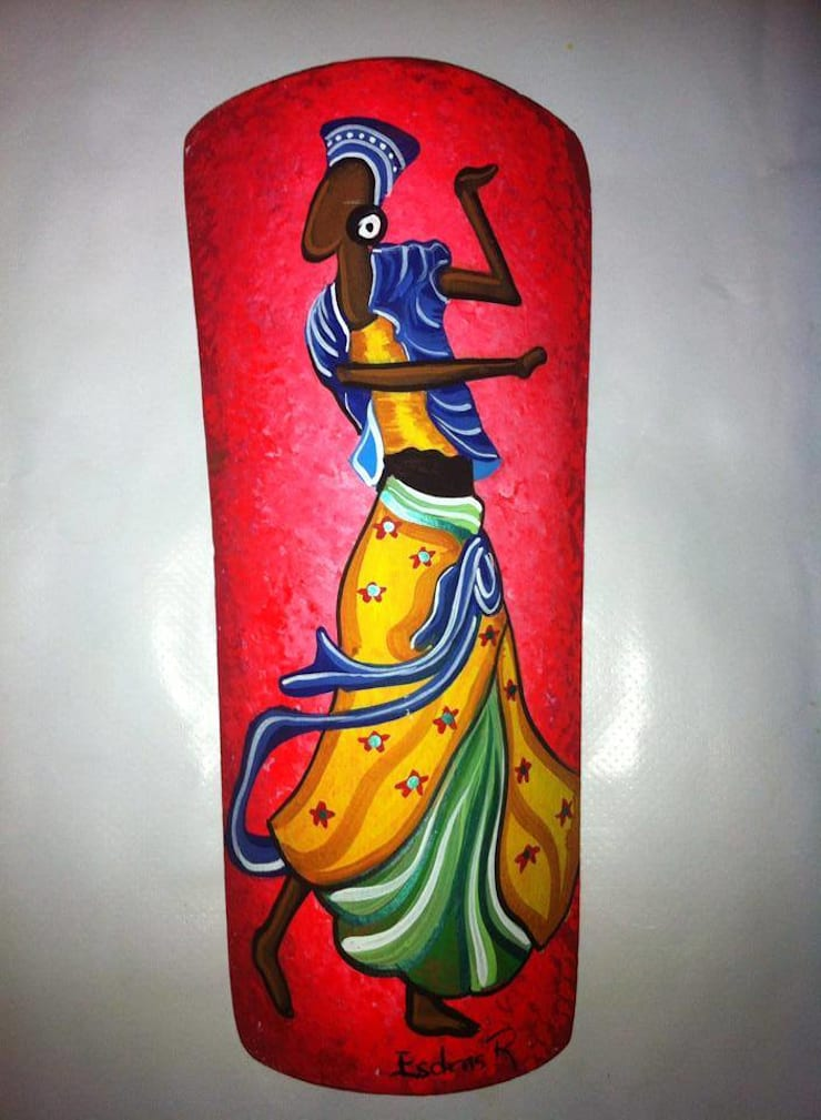 Negras en tejas: Arte de estilo  por El Rincon del Artesano