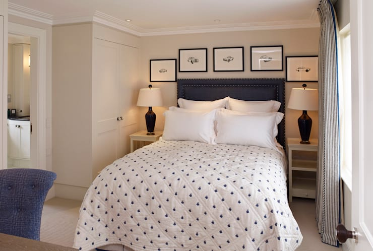 Bedroom Two: classic  by Jane Churchill Interiors, Classic