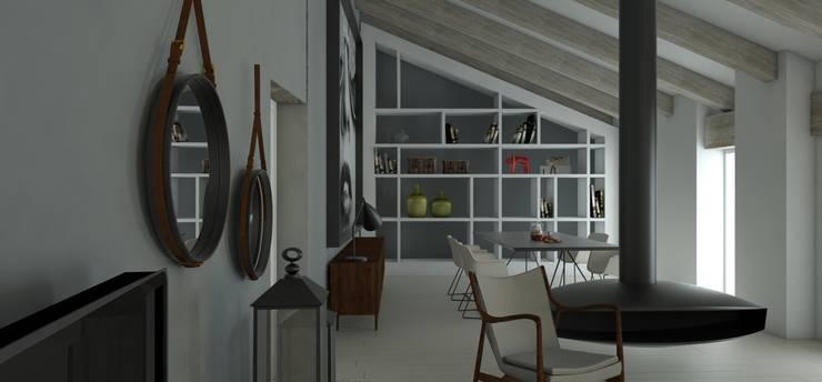 Remodelação sala e Design de Interiores: Sala de estar  por By N&B Interior Design