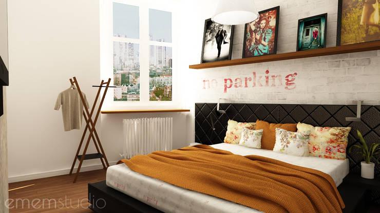 Kamienica na Wildzie: styl , w kategorii Sypialnia zaprojektowany przez EMEMSTUDIO