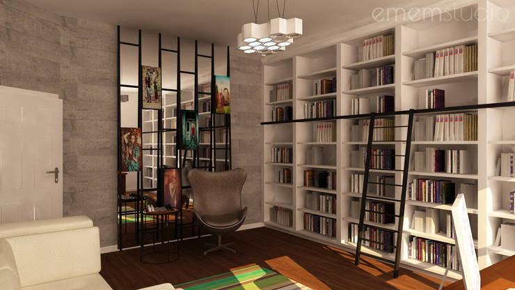 Kamienica na Wildzie: styl , w kategorii Domowe biuro i gabinet zaprojektowany przez EMEMSTUDIO ,Eklektyczny