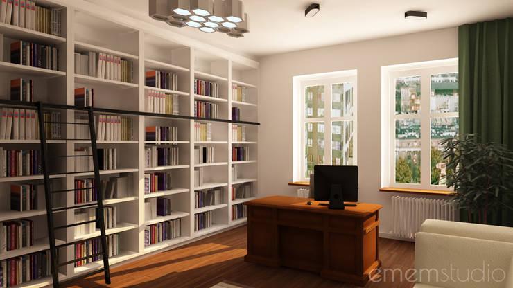 Kamienica na Wildzie: styl , w kategorii Domowe biuro i gabinet zaprojektowany przez EMEMSTUDIO