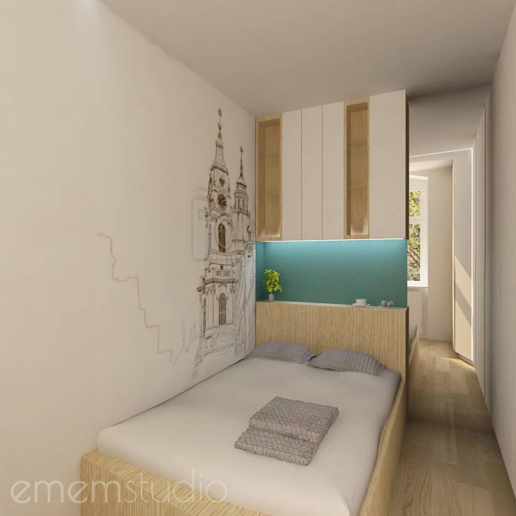 Kamienica Jeżyce: styl , w kategorii Sypialnia zaprojektowany przez EMEMSTUDIO