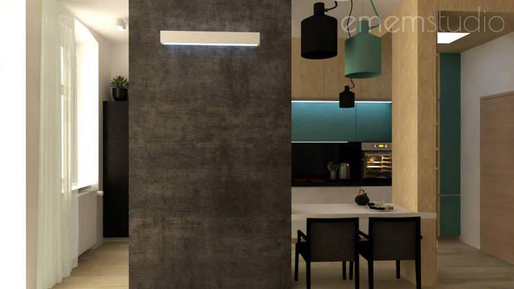 Kamienica Jeżyce: styl , w kategorii Kuchnia zaprojektowany przez EMEMSTUDIO