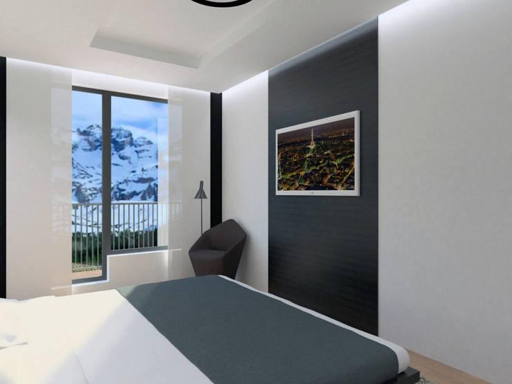 Apartamento (Quarto/Suite): Quartos  por Symbioses - Design & Construção