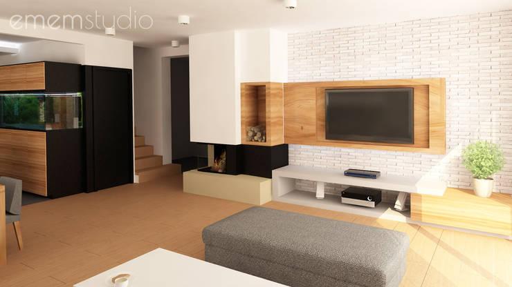 Walerianowo Projekt : styl , w kategorii Salon zaprojektowany przez EMEMSTUDIO ,
