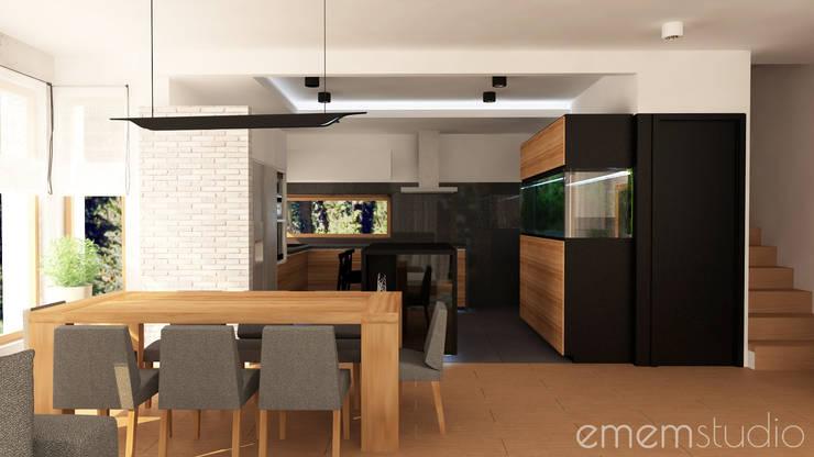 Walerianowo Projekt : styl , w kategorii Kuchnia zaprojektowany przez EMEMSTUDIO ,