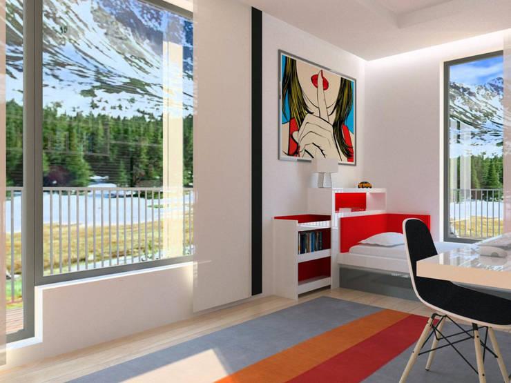 Apartamento (Quarto Jovem): Quartos modernos por Symbioses - Design & Construção