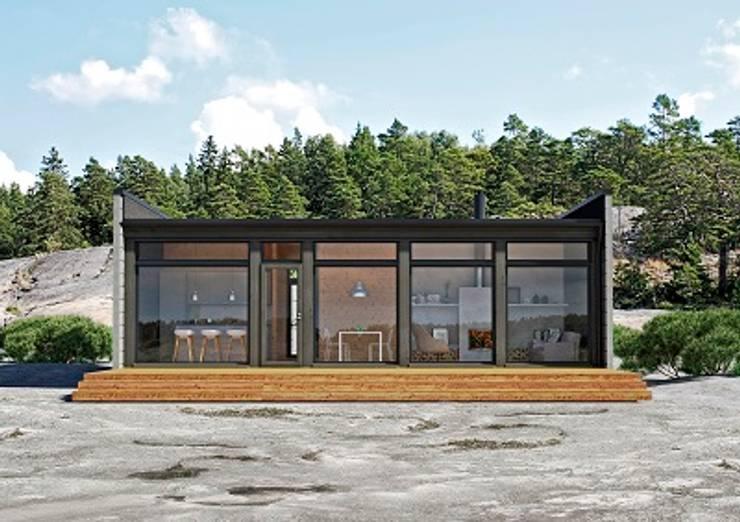 Glass House 70C:   por Symbioses - Design & Construção