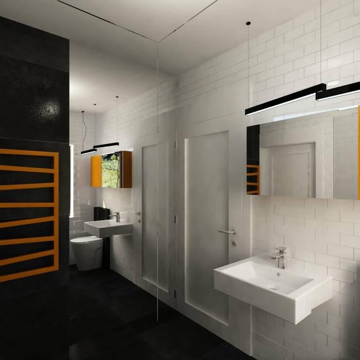 Projekt Grunwald: styl , w kategorii Łazienka zaprojektowany przez EMEMSTUDIO