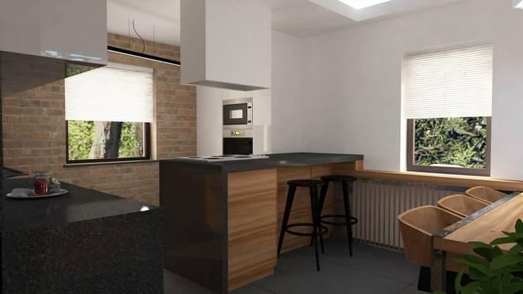 Projekt Grunwald: styl , w kategorii Kuchnia zaprojektowany przez EMEMSTUDIO