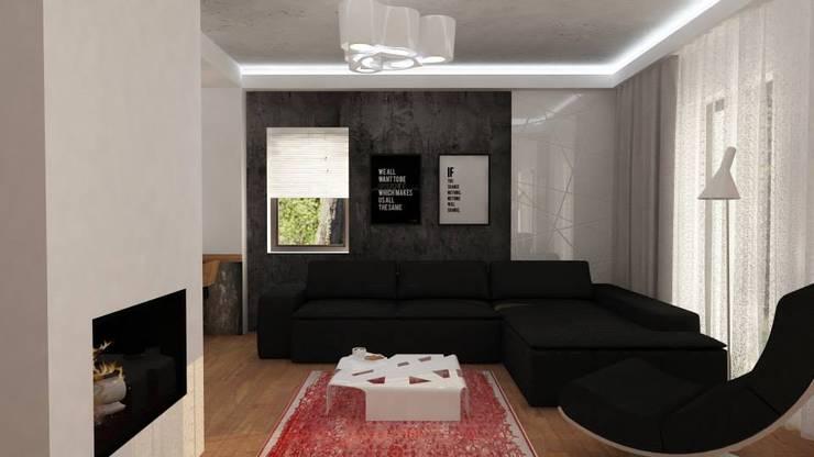 Projekt Grunwald: styl , w kategorii Salon zaprojektowany przez EMEMSTUDIO