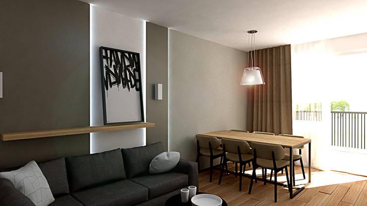 Salon de style  par EMEMSTUDIO , Moderne