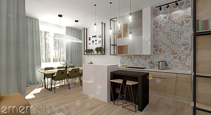 Kamienica Jeżyce : styl , w kategorii Kuchnia zaprojektowany przez EMEMSTUDIO