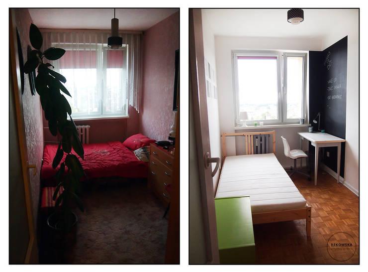 Odnowa mieszkania: styl , w kategorii  zaprojektowany przez VISUAL STUDIO - PROJEKTOWANIE WNĘTRZ JULIA REKOWSKA