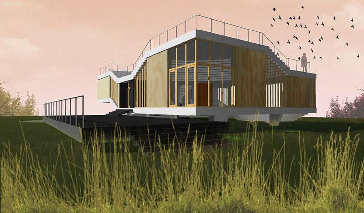 Dom Latający Dywan - widok: styl , w kategorii  zaprojektowany przez S.LAB architektura Tomasz Sachanowicz