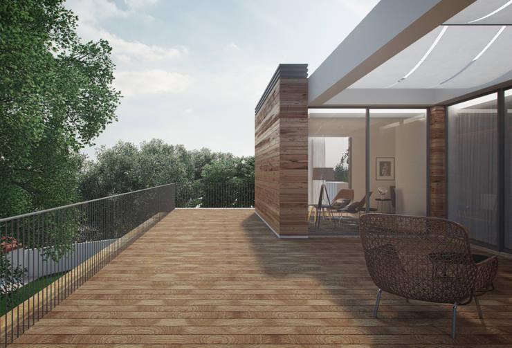 Casas de estilo  por ASVS Arquitectos Associados
