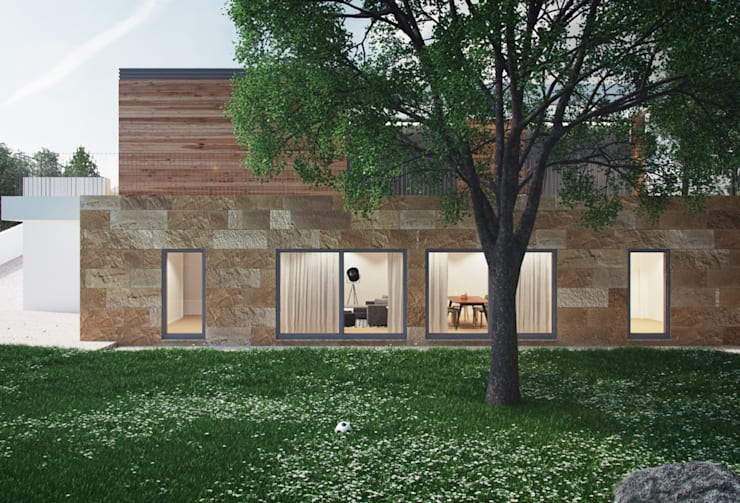 Casas de estilo moderno por ASVS Arquitectos Associados