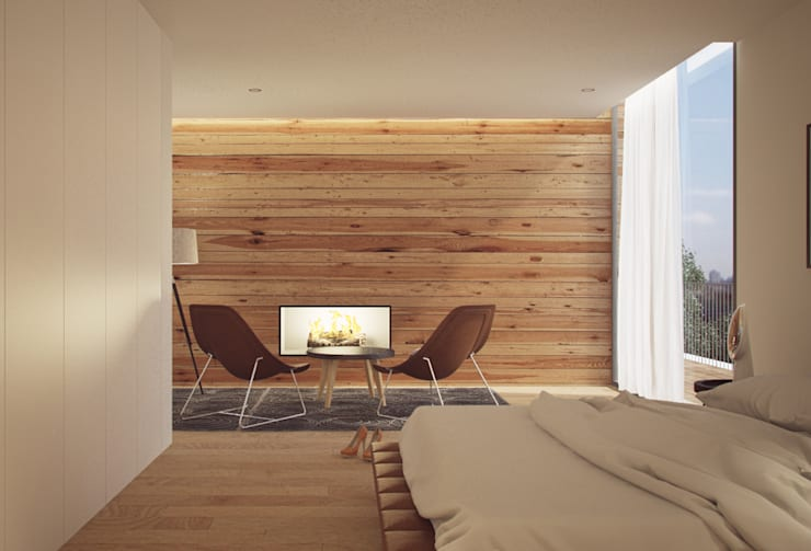 Recámaras de estilo  por ASVS Arquitectos Associados