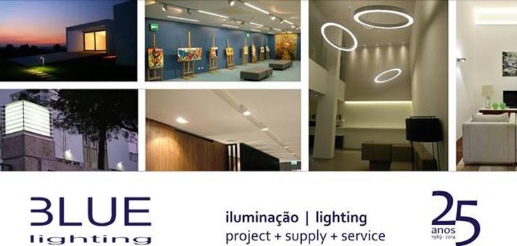 LUZIBÉRICA | BLUE LIGHTING lamps: Casa  por LUZZA by AIPI - Portuguese Lighting Association