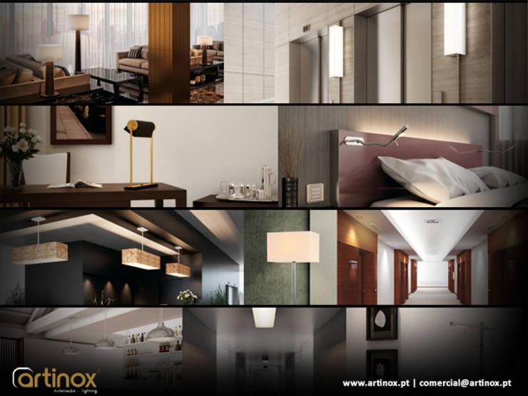 Artinox lamps:   por LUZZA by AIPI - Portuguese Lighting Association,Moderno