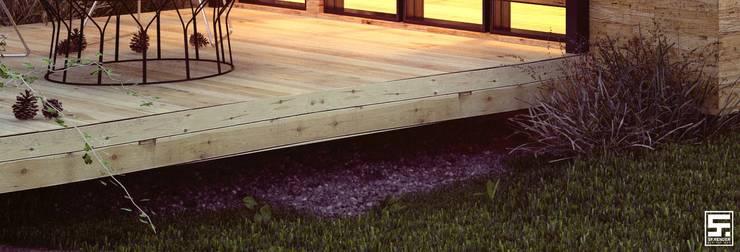Vivienda moderna prefabricada: Casas de estilo  por SF Render
