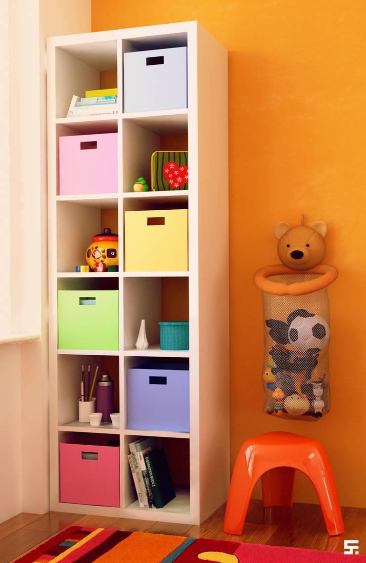 Interiores y mobiliario <q>Barü Deco Design</q>: Dormitorios infantiles  de estilo  por SF Render
