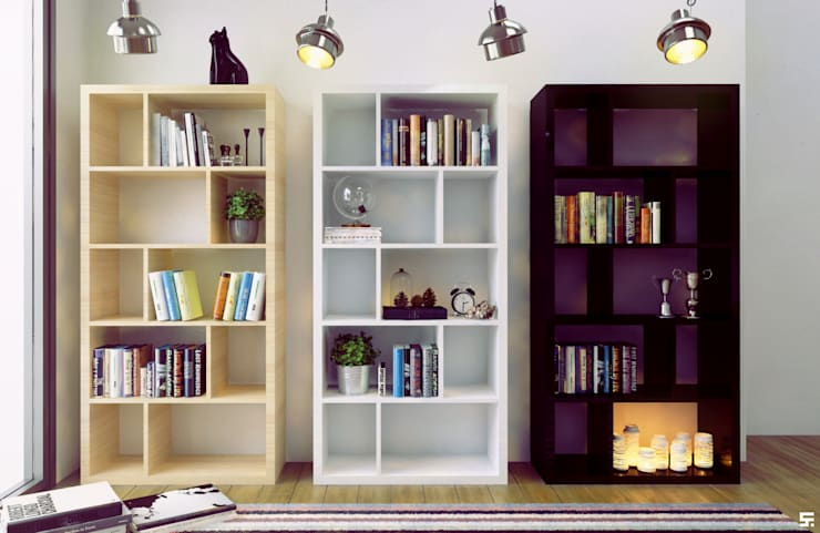 Interiores y mobiliario <q>Barü Deco Design</q>: Livings de estilo  por SF Render