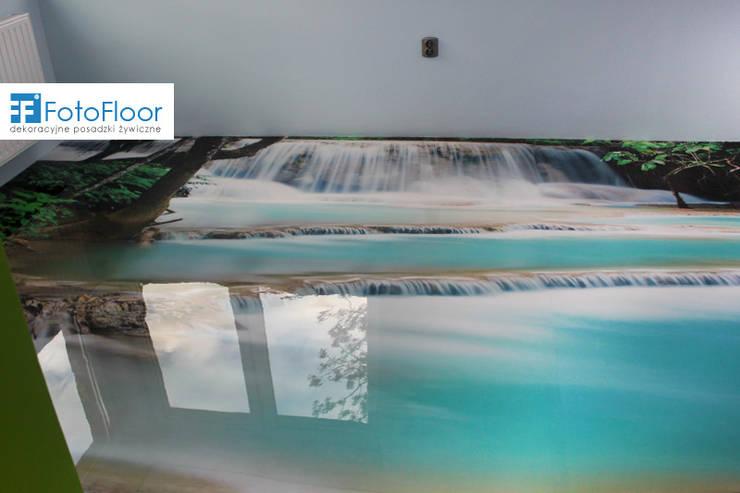 Posadzka graficzna z motywem wodospadu: styl , w kategorii Sypialnia zaprojektowany przez FotoFloor,Nowoczesny