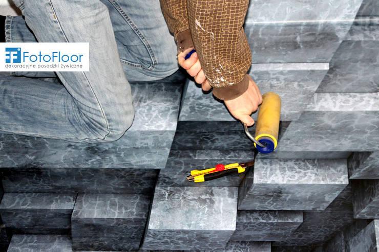 Podłoga 3D - przepaść: styl , w kategorii Łazienka zaprojektowany przez FotoFloor