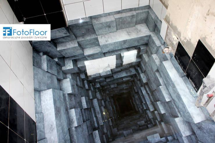 Podłoga 3D z efektem głębi: styl , w kategorii Łazienka zaprojektowany przez FotoFloor