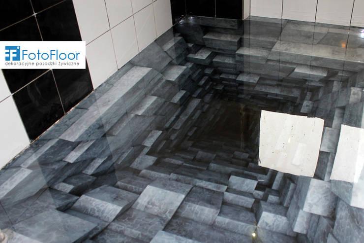 Podłoga 3D - efekt trójwymiarowości: styl , w kategorii Łazienka zaprojektowany przez FotoFloor