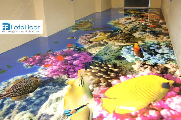 Podłoga 3D - rafa koralowa: styl , w kategorii Szkoły zaprojektowany przez FotoFloor,Nowoczesny