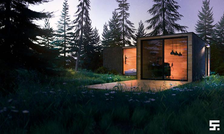 Forest house: Casas de estilo  por SF Render
