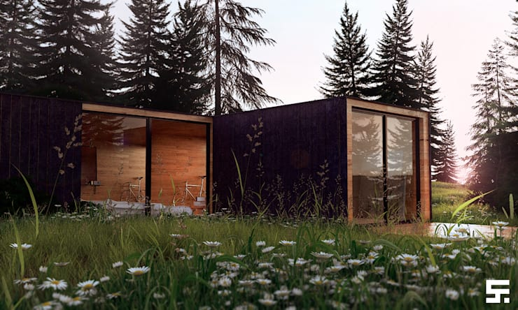 Forest house: Casas de estilo  por SF Render