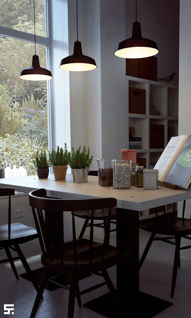 Sunrise in home: Comedores de estilo  por SF Render