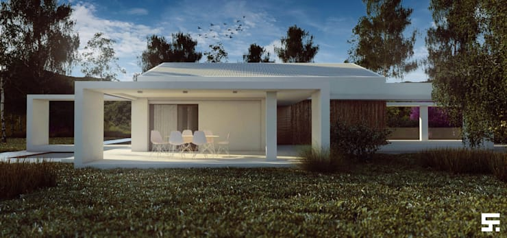 Casas de estilo  por SF Render