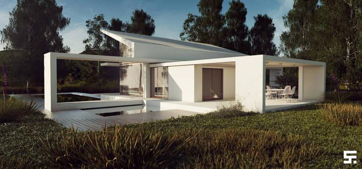 Casa de campo: Casas de estilo  por SF Render,