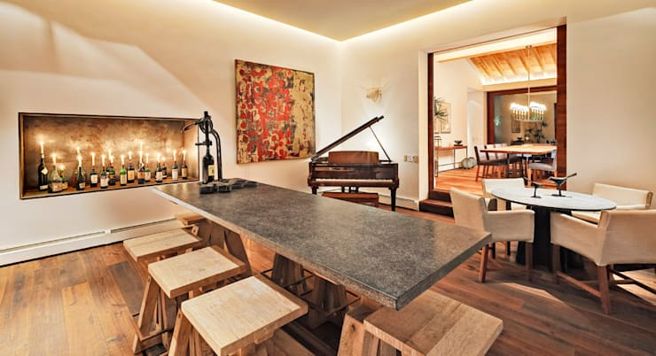 Casa las Moras : Comedores de estilo moderno por Lopez Duplan Arquitectos